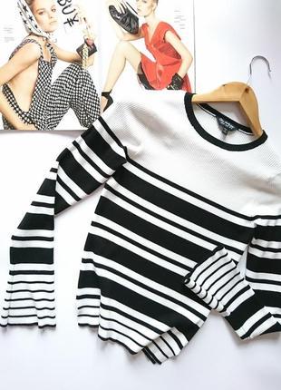 Стильний базовий джемпр/кофта/блуза в рубчик від miss selfridge, на р. s