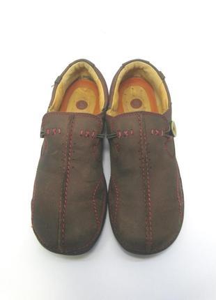 Женские детские кожаные туфли clarks р. 36