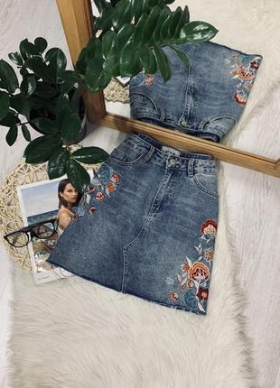 Нереально красива джинсова юбка від new look🌿