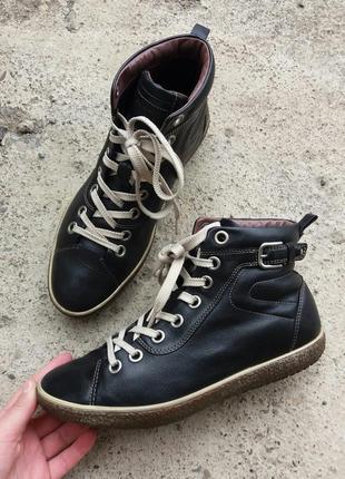 Р.37 ecco (оригинал) кожаные деми ботинки.