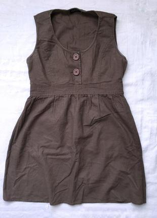 Коричнева сукня