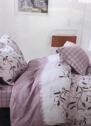 Комплект постельного белья евро 4 наволочки и полуторка премиум, турция  100 % хлопок