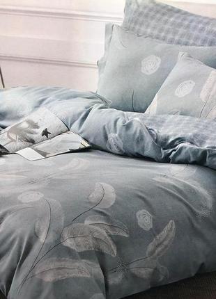 Комплект постельного белья евро 4 наволочки и полуторка премиум, турция