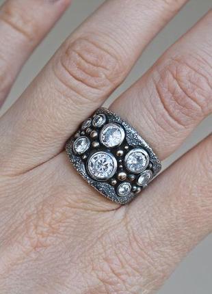 Серебряное кольцо ланфорд р.18