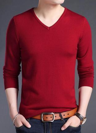 Джемпер свитер акриловый темно-красный, 2ххl.