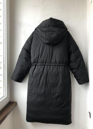 Непромокаючий оверсайз пуховик / куртка / плащ / пальто з поясом zara - s8 фото