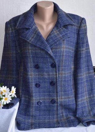 Брендовое шерстяное демисезонное пальто полупальто bm collection большой размер