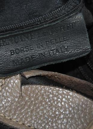 Кожаная сумка borse in pelle / шкіряна сумка6 фото