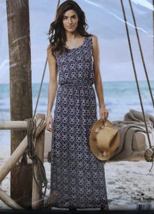 Шикарное макси платье,100% вискоза blue motion размер l