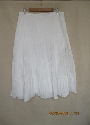 Летняя белая юбка