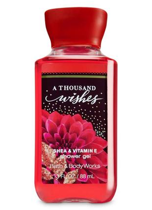 Гель для душа bath & body works a thousand wishes
