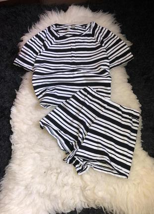 Комплект набор двойка шорты футболка домашний для дома костюм пижама