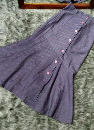 Юбка миди покроя годе из костюмной ткани