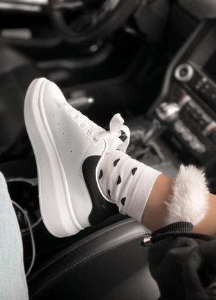Alexcander mcqueen женские кроссовки белый цвет (весна-лето-осень)😍