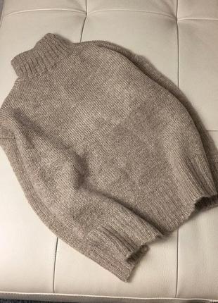 Базовый нюдовый/кофейный мягкий шерстяной свитер/джемпер medicine s-m скидка!8 фото
