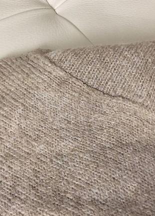Базовый нюдовый/кофейный мягкий шерстяной свитер/джемпер medicine s-m скидка!7 фото