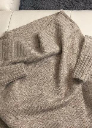 Базовый нюдовый/кофейный мягкий шерстяной свитер/джемпер medicine s-m скидка!4 фото