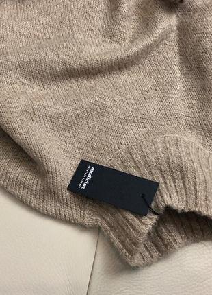 Базовый нюдовый/кофейный мягкий шерстяной свитер/джемпер medicine s-m скидка!3 фото