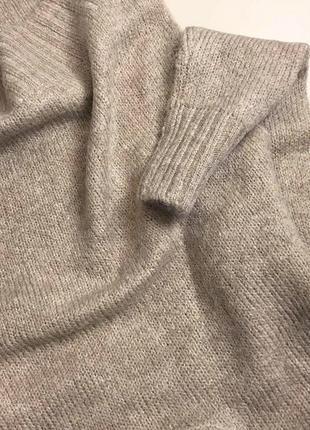 Базовый нюдовый/кофейный мягкий шерстяной свитер/джемпер medicine s-m скидка!5 фото