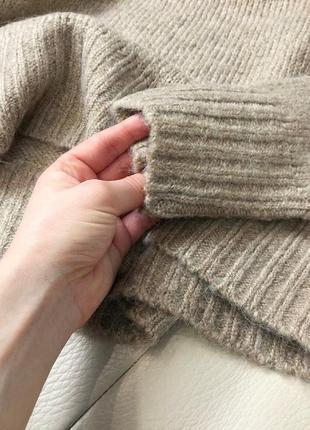 Базовый нюдовый/кофейный мягкий шерстяной свитер/джемпер medicine s-m скидка!6 фото