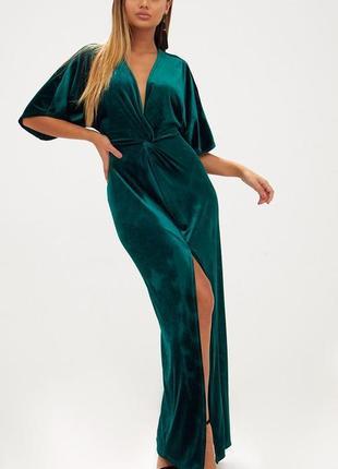 Бархатное платье макси