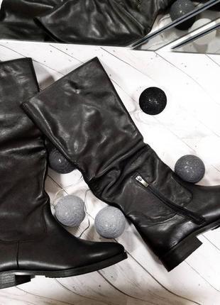 Распродажа! женские кожаные сапоги зима натуральная кожа3 фото