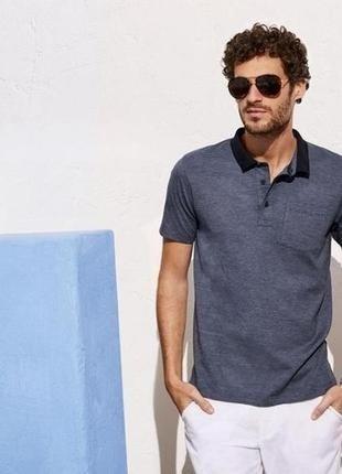 Livergy® фирменное поло, тениска slim fit 100% хлопок германия m48/50