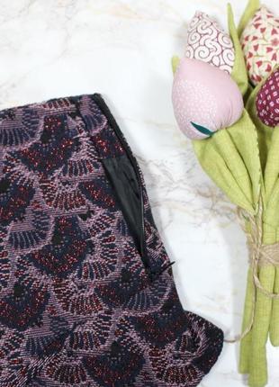 Жаккардовая тёплая юбка спідниця с рюшами воланом новая bershka люкс качество3 фото