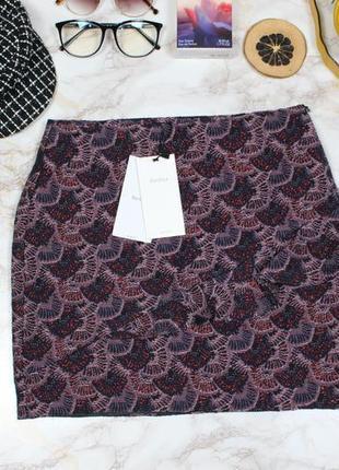 Жаккардовая тёплая юбка спідниця с рюшами воланом новая bershka люкс качество2 фото