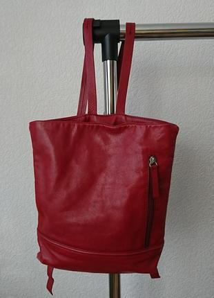 Рюкзак кожаный coccinelle оригинал
