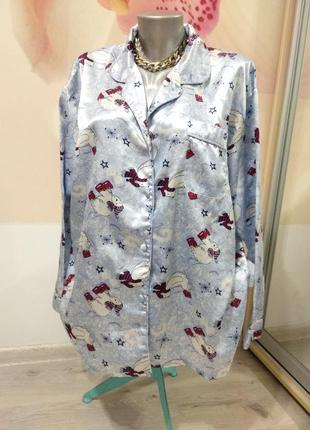 Фирменная рубашка от пижамы. рубашка для дома.
