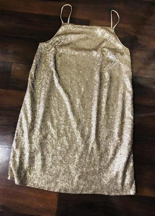 Шикарное вечернее платье сарафан ночнушка в паетки