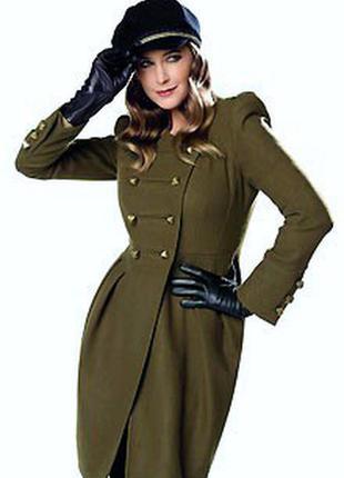 Стильное шерстяное пальто  от autograph marks&spencer