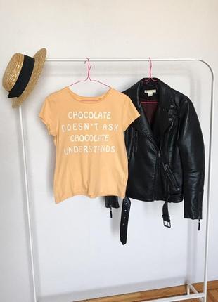 Распродажа!🔥 стильная футболка с надписью от c&a. р-р s/m1 фото