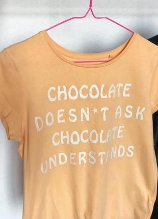 Распродажа!🔥 стильная футболка с надписью от c&a. р-р s/m4 фото