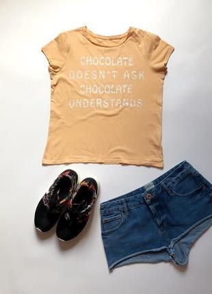 Распродажа!🔥 стильная футболка с надписью от c&a. р-р s/m5 фото