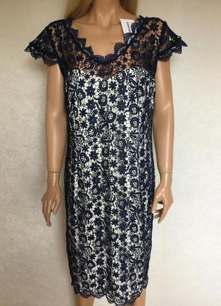 Ажурное нарядное вечернее коктейльное платье kaleidoscope размер 16/18