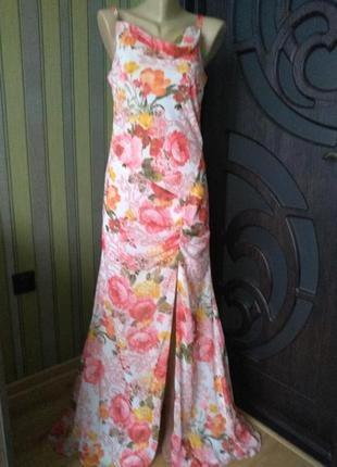Vera mont роскошное винтажное платье в пол