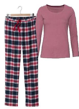 Уютная пижама м 40-42 euro (46-48), костюм, штаны фланель esmara, германия