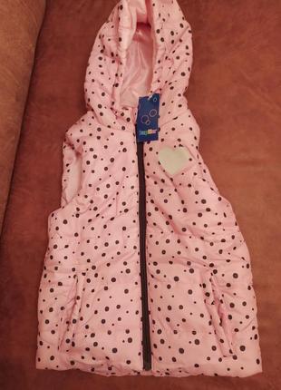 Новая теплая жилетка для девочки lupilu