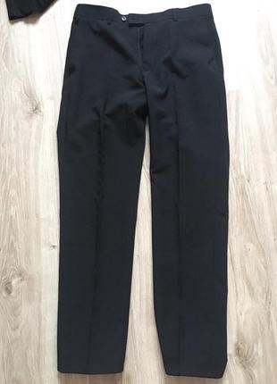 Темно синие брюки m&s h&m zara