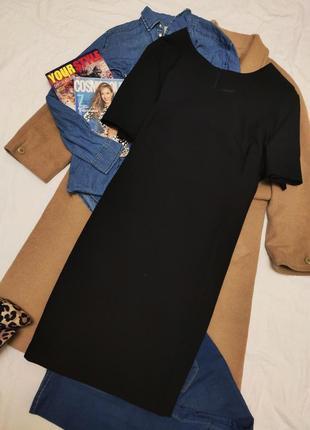 Чёрное классическое платье прямое миди большое батал батальное modern classics