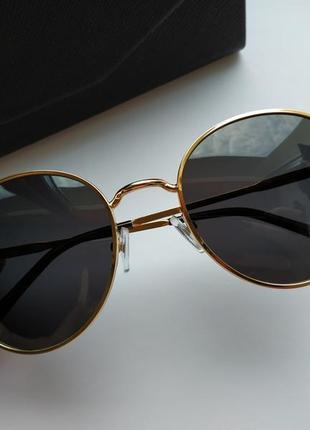 Солнцезащитные очки - уф защита - черные в золоте реальные фотографии!!7 фото