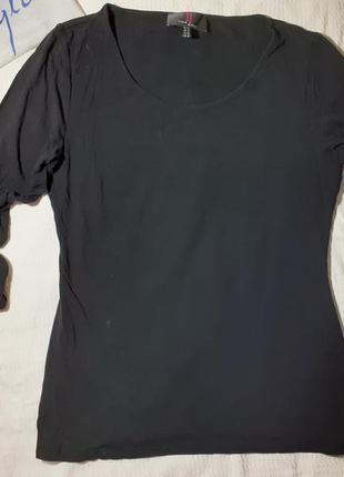 Блуза блузка трикотажная трикотаж футболка укороченный  рукав реглан декольте