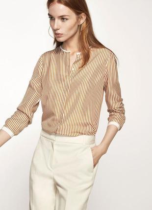 Шикарная шелковая рубашка в полоску massimo dutti