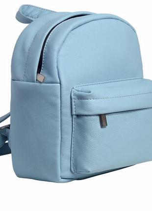 Женский голубой рюкзак для прогулок2 фото