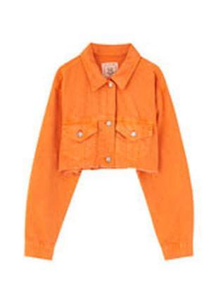 Pull&bear джинсовый пиджак р.м
