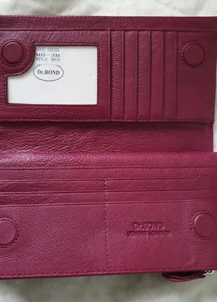 Шкіряний жіночий гаманець, кошельок від dr.bond