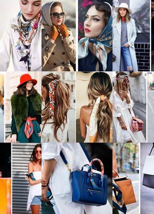 7-27 хустинка шарфик платок для волос, на шею, на руку, на сумку4 фото