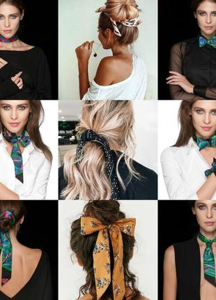 7-24 хустинка стрічка лента твилли шарфик платок для волос, на шею, на руку, на сумку4 фото